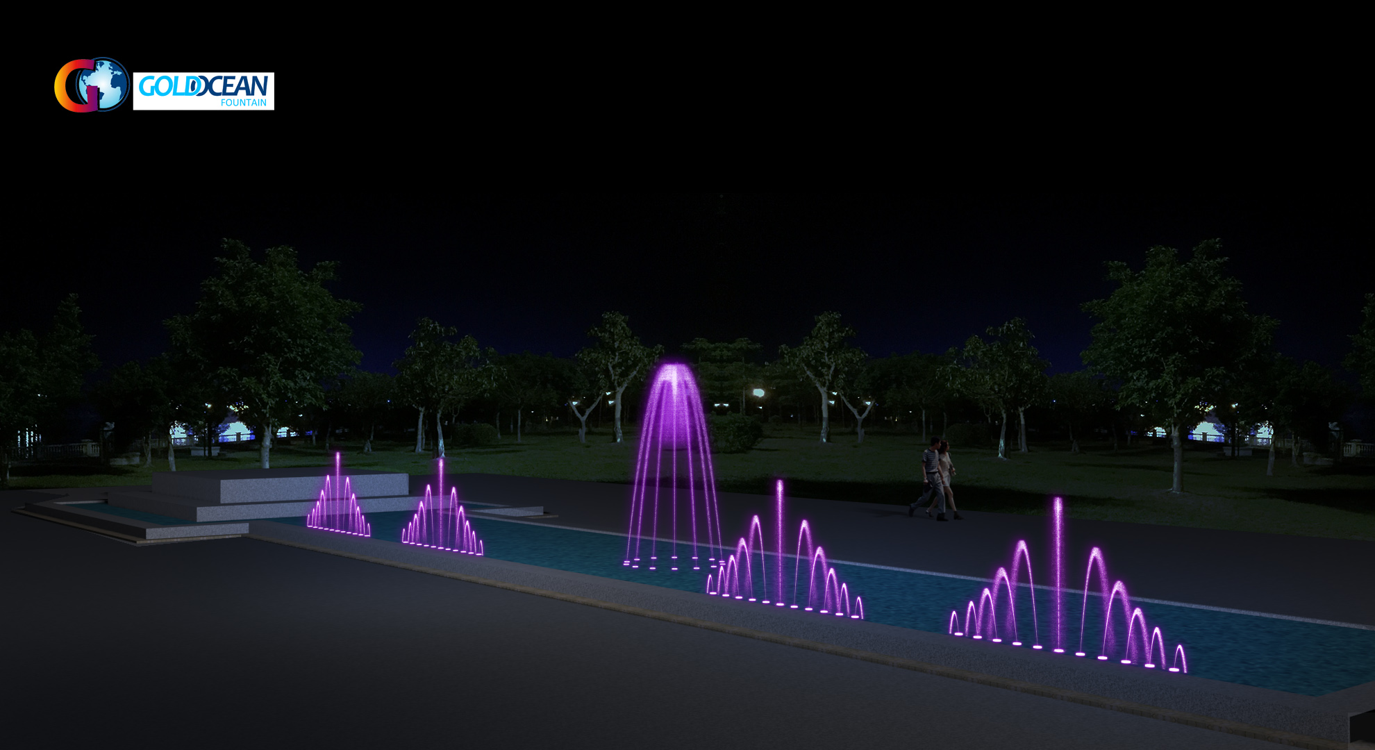 FREE DESIGN Fountain Supplier Artificial Pool Large Size Hotel Fountain Water Outdoor