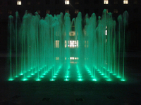 Colorful Outdoor Lighted Dry Floor Fountain