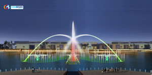 40*8m Lake Floating Music Dancing Fountain