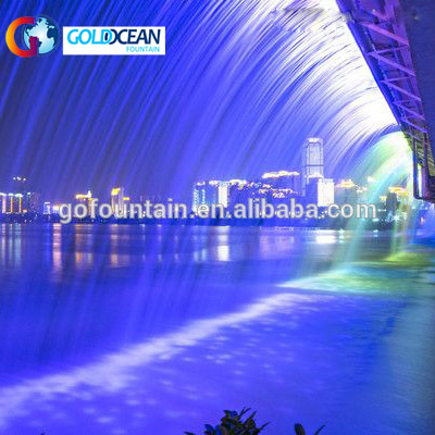 Outdoor Programmable Water Wall Graphical Fall Digital Water Curtain
