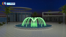Hot Sale Led Pool Deck jumping Jet Laminar Flow Water Fountain
