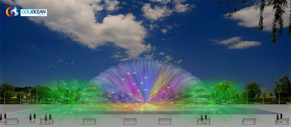 Water Screen Fountains Laser Water Screen Movie Show