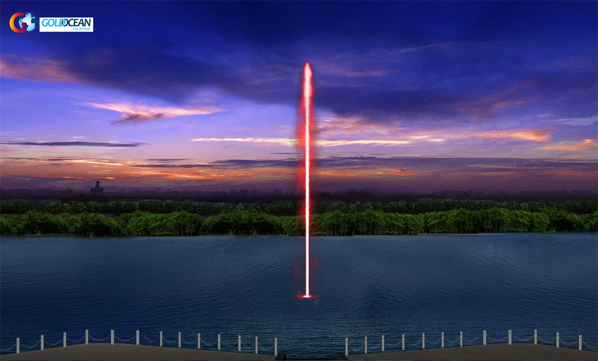 2021 New Design Customized Dia.7m Floating Fountain