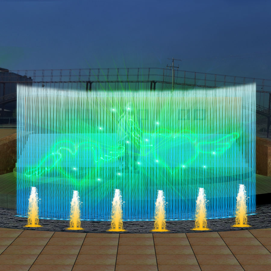 Laser Water Screen Movie Fountain Jet Nozzle Water Jet Fountain