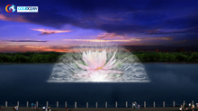 Large Lakes Water Screen Movie Performance Laser Show & Water Projector Water Fountain
