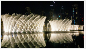 Large Scale LED Colorful Music Dancing Fountain