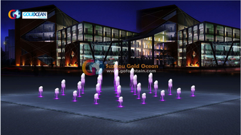 5*5m Floor Fountain Project in Mongolia