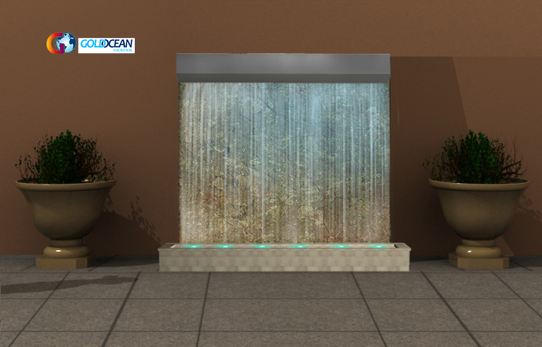 Stainless Steel Outdoor Fountain waterfalls