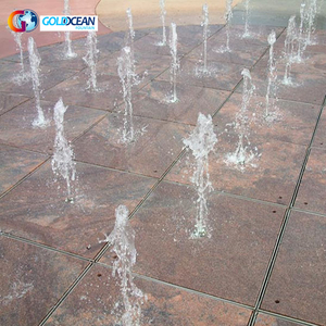 Public Square Playing Interactive Dry Deck Fountain