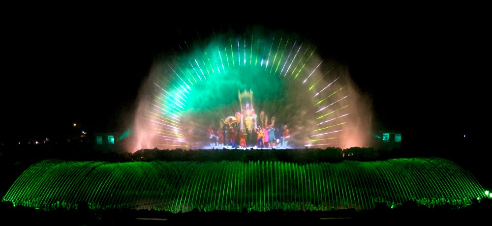 Music Dancing Water Screen Movie Fountain Show With The Laser