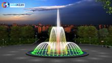 Small Portable Dia.3m Dancing Fountain