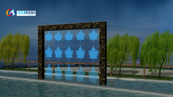 4*3m Outdoor Digital Water Curtain
