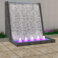 Decorative garden waterfall wall fountain