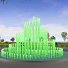 Outdoor Running Straight Spray Music Dancing Fountain
