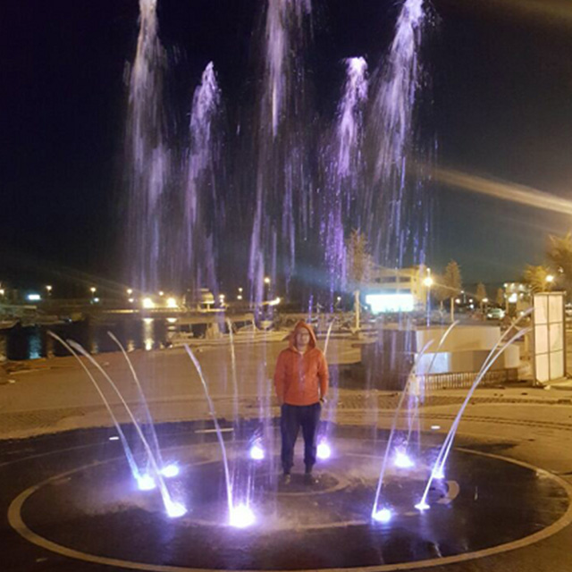 FREE Design Outdoor Dia.10m Jumping Jets Dry Fountain